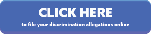 Button to click to file allegations of discrimination with HRC