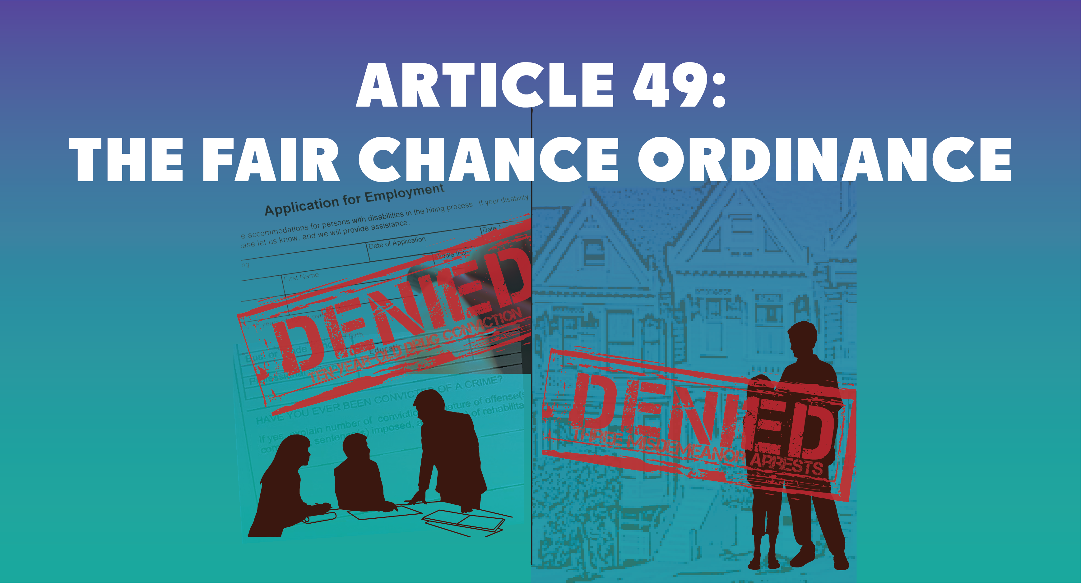 Header for the web page describing Article 49: The Fair Chance Ordinance