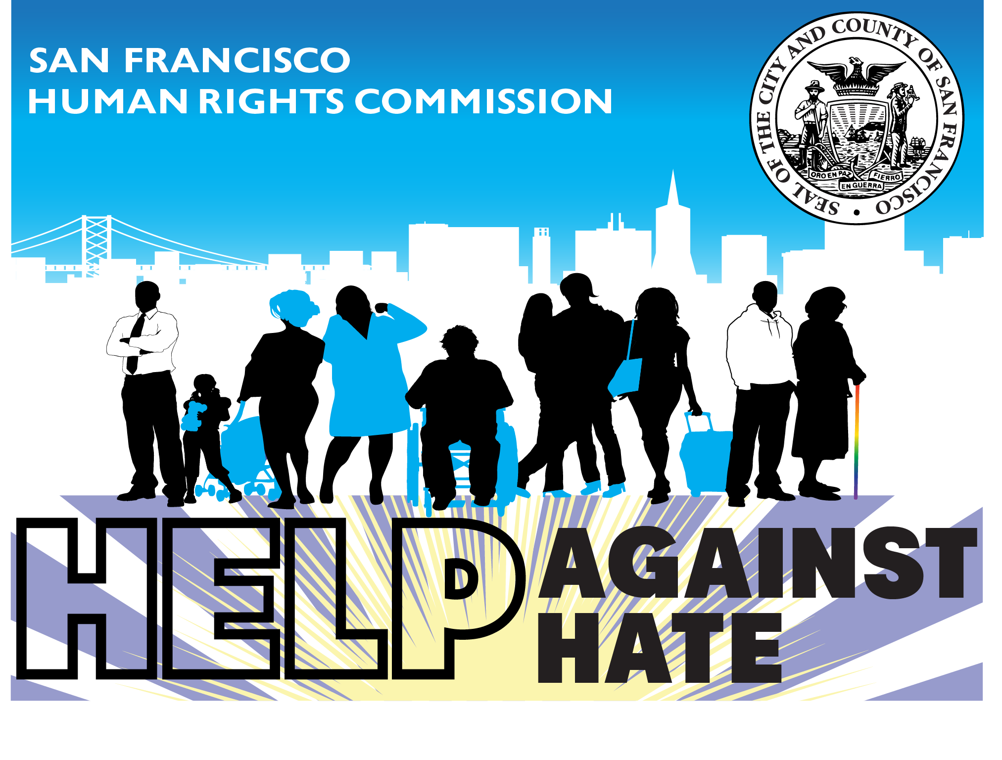 Help Against Hate Campaign resource card front