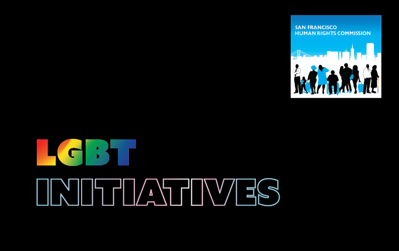"HRC logo with the title, ""LGBT Initiatives"""