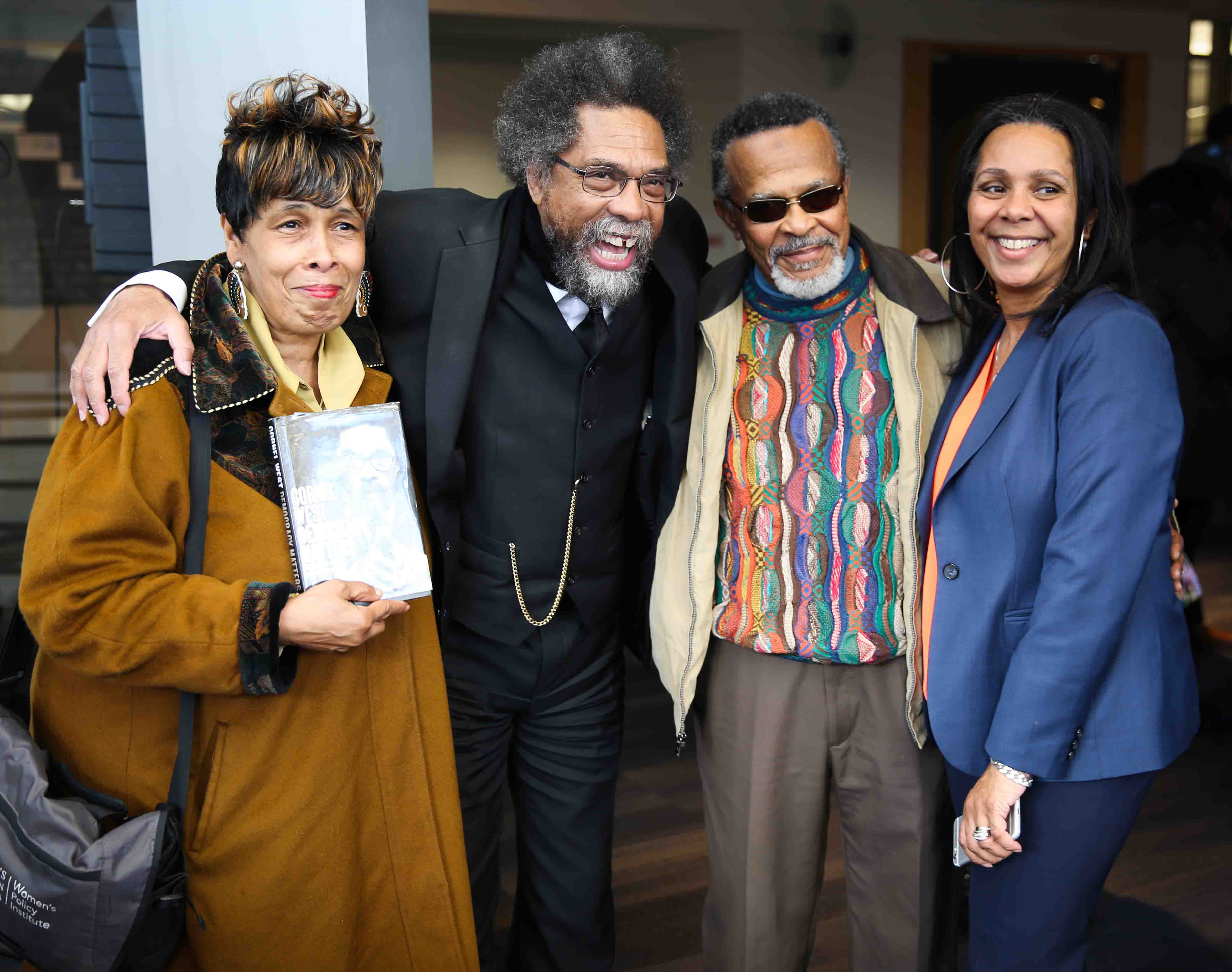 Dr Cornel West and HRC Director Sheryl Davis share a laugh with audience members at the April 27 discussion