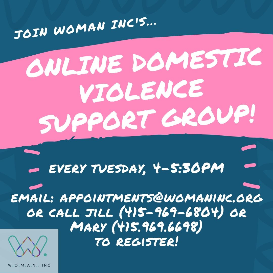 Ad for Woman Inc survivor support group
